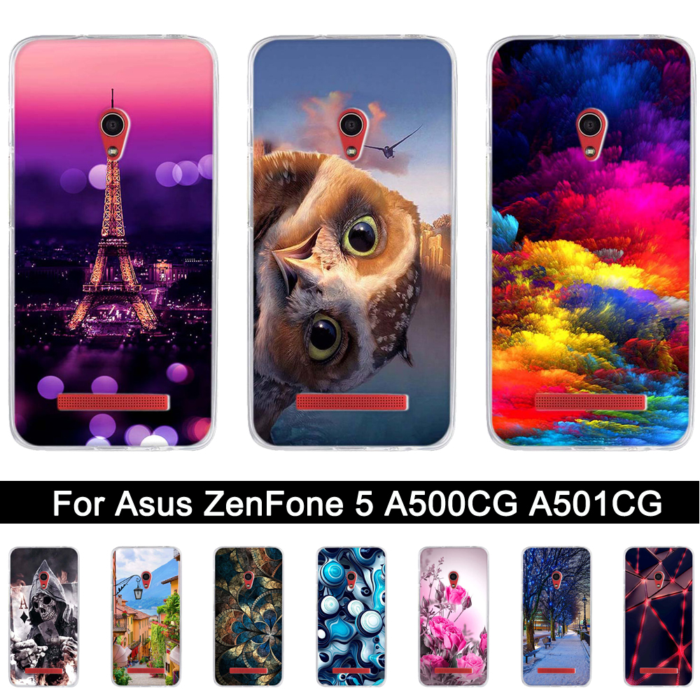 Soft Silicone Case For Asus ZenFone 5 A500CG A501CG A500KL 50 Inch TPU Back Phone Cover
