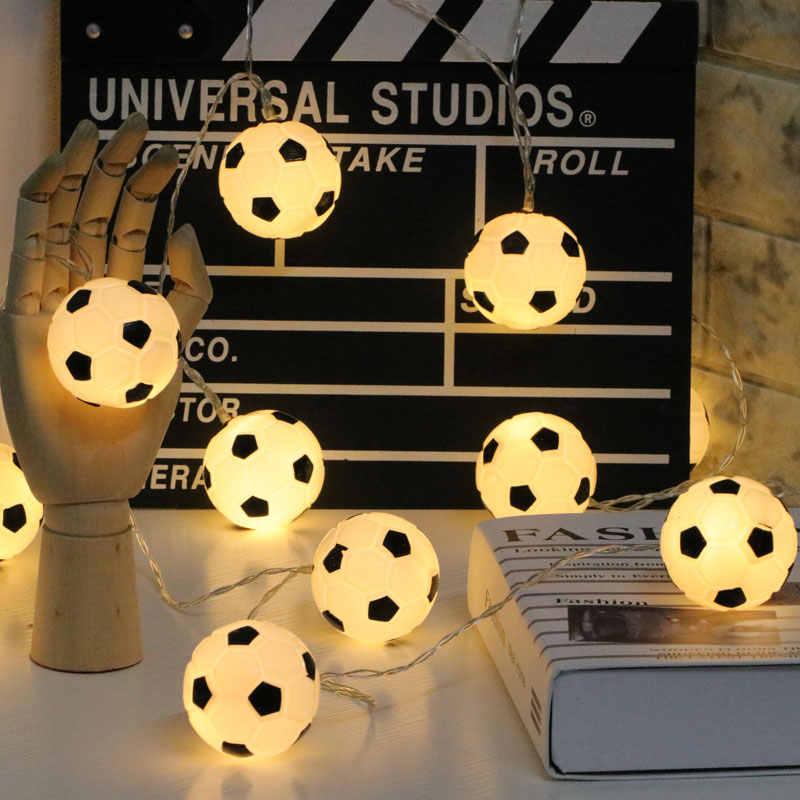 2019 decor LED fußball außen string lichter Weihnachten urlaub hochzeit dekoration home garten licht
