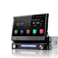 PUZU Android 6.0 1din Universal Motorized Flip down Panel Car DVD Player with 4G WiFi GPS DAB+ DVBT car Radio Audio DW7088
