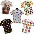 Nova t-shirt de manga curta camisa bonito de T casual homens 3d camiseta
