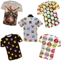 new T-shirt round neck short sleeve nice print tees casual tshirt men's 3d t shirt