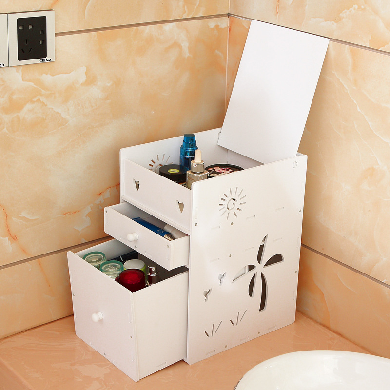 Desktop cosmetics storage box Dust and drawer type skin care products