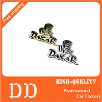 Dakar World Rally Racing Vintage Chrome Metal Car Styling Emblem Badge Cool Auto Exterior Decoration 3D