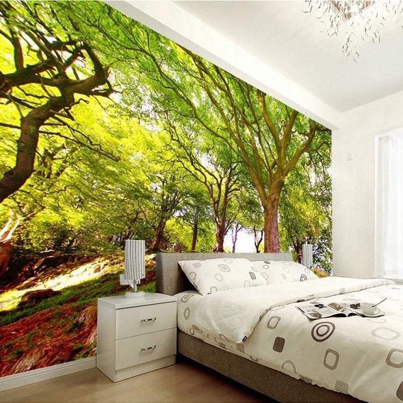 Benutzerdefinierte 3D Fototapete Wald Baum Natur Landschaft ...