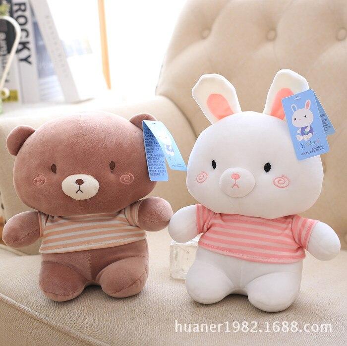 Cute animal elephant bear rabbit doll Stuffed Animals plush toy the best gift high quality