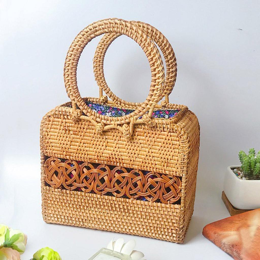 Molave handbag girl Circle Handwoven Bali Round Retro Rattan Straw Handbag Crossbody fashion new bag women 2019jan12