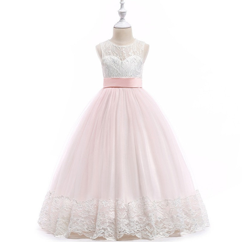 Kids dresses for girls long dress elegant white girls wedding dress Lace teenager clothes party Dresses 6 8 10 12 14 15 16 Years стоимость