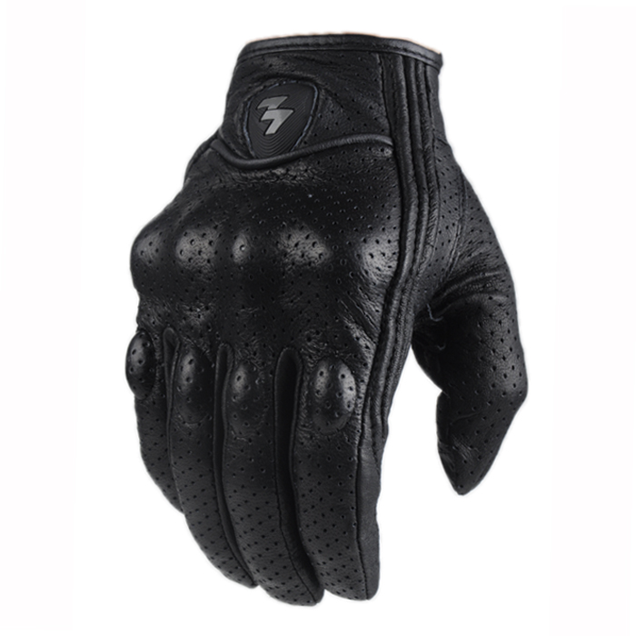 Touch screen genuine leather gloves motorcycle racing rider anti fall gloves touch gloves