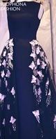 Elegant Custom Made Black Long Evening Dress 2017 Lace Appliques Beading Kaftan Evening Gown Plus Size
