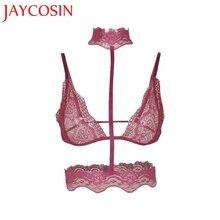 630a46681 2018 Mulheres Lace Sexy Underwear Lingerie Mulheres Ultra Impulso Conjunto  de Sutiã Soutien Desfiladeiro A B C D Cup510