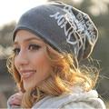 New 2016 Spring Winter Fashion Women Letter Printed Hat Oversized Baggy Cotton Hip-Hop Beanies Warmer Ski Cap For Men bonnet