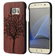 Natural Wood Phone Case For Samsung Galaxy S7 S 7 Edge Cover Wooden High Quality Cover for Samsung Galaxy S7 Edge Shockproof samsung s view cover для samsung galaxy s7 edge
