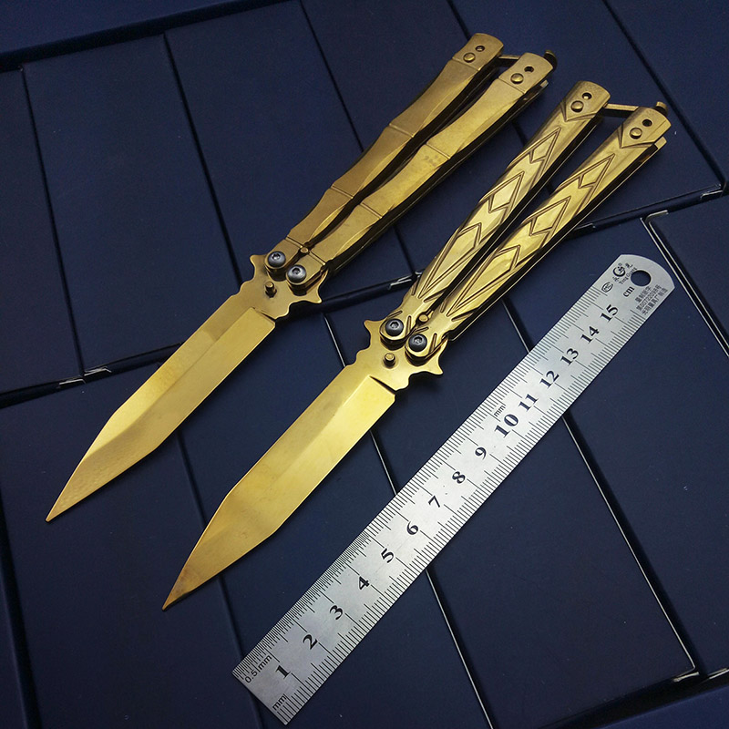Butterfly in knife Tactical Knife Foldable Pocket Knife Bali song Practice Training Knife Gift Different Style for Drop Shopping