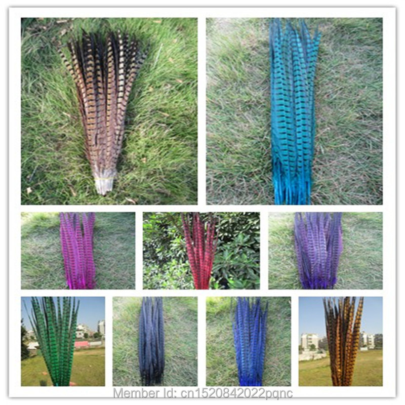 Retail 10 pcs Long 40 to 45 cm Natural DIY Pheasant Tail Feather Hair Extension Centerpieces for Wedding Decorations