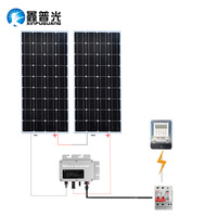300w system module kit 2*160w PV solar panel cell inverter+controller Solar Photovoltaic Household and network systems