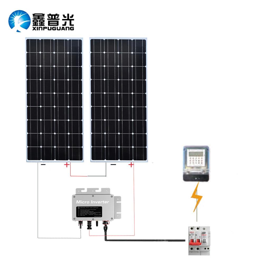 300w System Module Kit 2 160w Pv Solar Panel Cell Inverter