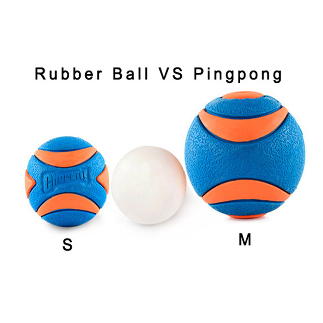 DOBOLA Ultra Ball Dog Chew Training Rubber Ball Toy Teeth Bite Dog Cat Play Ball Interactive Chewing Toys 3 Sizes Pet Product