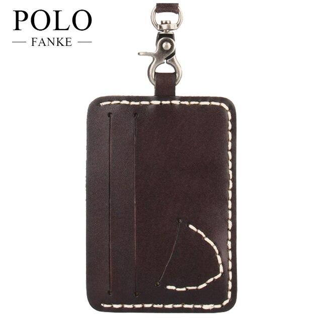 FANKE POLO Genuine Leather Credit Card Holder Passport Cover Wallet Fashion  Travel Cash Case Pocket Bag For Men Womens FK170941 2ec1c1e203