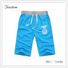 Taustiem модный бренд Повседневное дома Шорты для женщин Мужская хлопковая движения брюки Шорты для женщин Человек Фитнес упражнения короткие Для мужчин по колено Треники