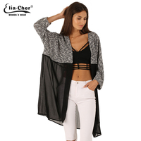 Long Cardigan Women Sweater 2015 Chic Lady Winter Knitted Cardigans Tops Eliacher Brand Plus Size Casual
