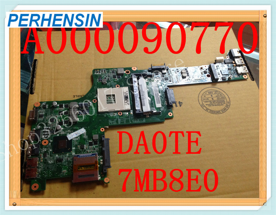 For Toshiba For Satellite E305 Laptop MOTHERBOARD A000090770 DA0TE7MB8E0 HM65 DDR3 S989 100% WORK PERFECTLYFor Toshiba For Satellite E305 Laptop MOTHERBOARD A000090770 DA0TE7MB8E0 HM65 DDR3 S989 100% WORK PERFECTLY