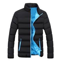 LASPERAL осень зима куртки для мужчин брендовая одежда повседневное пальто одноцветное цвет простая верхняя одежда с хлопковой подкладк