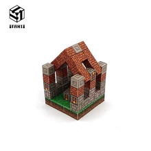 купить Minecraft Magnetic Building Blocks Models Bricks Hand Paste Compatible With Lego DIY Brain Toy Hardcover-Craftsman's Cottage Set по цене 1543.61 рублей