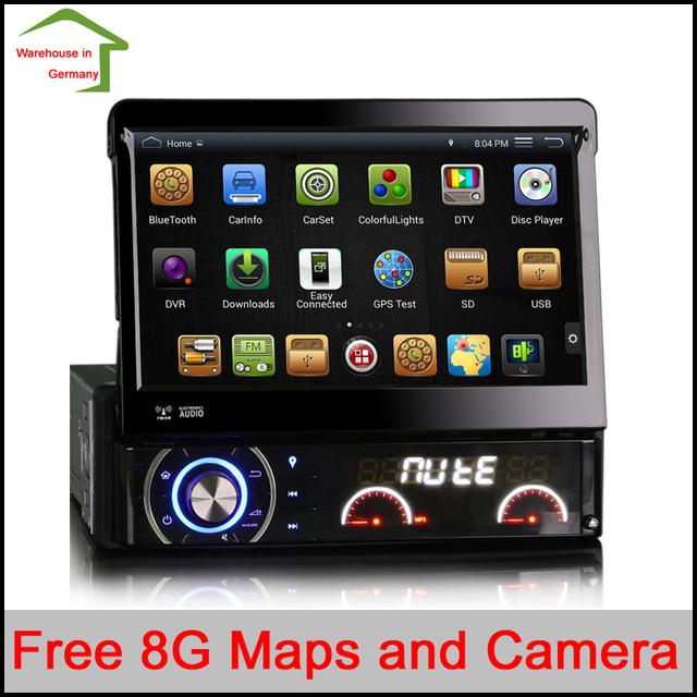 Universal Quad Core Android Carro DVD 1 DIN Player De Vídeo Do Carro WI-FI GPS Navi Chamada Handfree Carro DVD Del Coche In-dash NO Imposto NO IVA