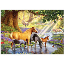 5D DIY diamond painting animal horse landscape embroidery cross stitch mosaic rhinestone home decoration gift