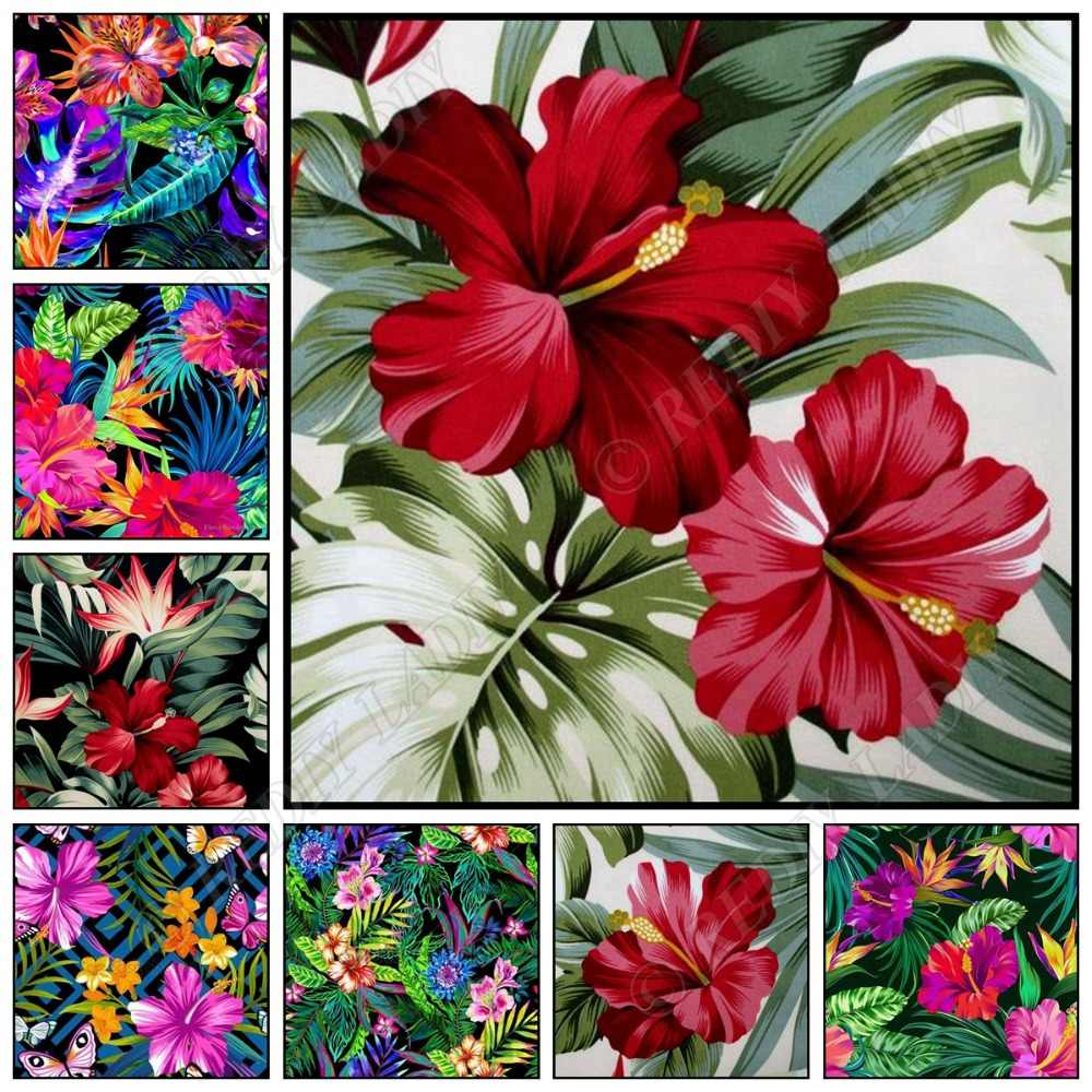Diamant broderie Style Tropical fleurs photo de strass plein carré/rond diamant mosaïque point de croix Kits décor à la maison