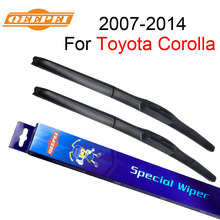 QEEPEI 26+14 Window Windsiheld Wiper Blade For Toyota Corolla 2007-2014 Car Accessories Auto Rubber Windscreen Wipers CPU701
