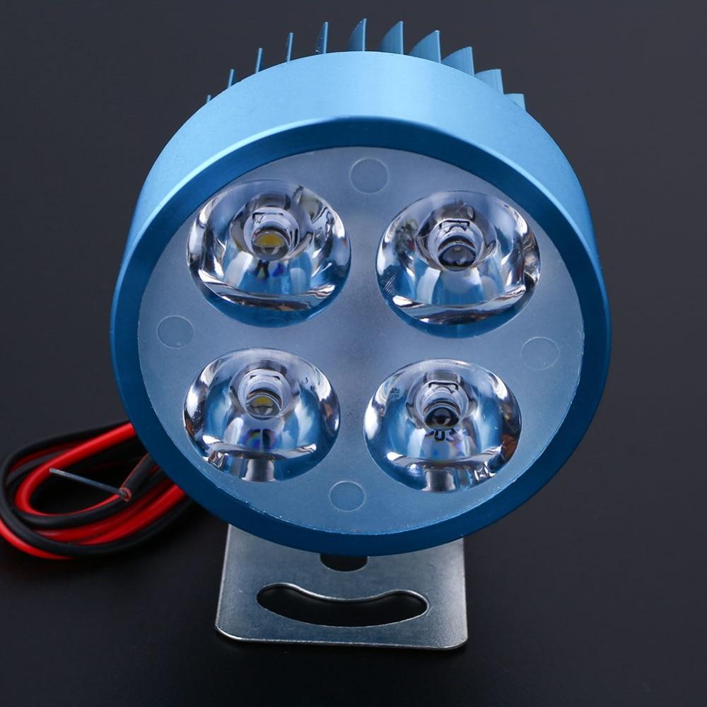 VEHEMO, светодиодный головной светильник для мотоцикла, электровелосипеда, фара для вождения, точечный светильник, водонепроницаемая лампа, 10 Вт, 4 цвета, для мотоцикла, DIY, головной светильник