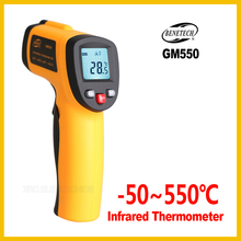 BENETECH   Non Contact IR Infrared Digital Temperature Gun Thermometer  50~550C ( 58~1022F) 0.95  12:1 LCD  GM550 BENETECH