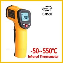 BENETECH   Non Contact IR Infrared Digital Temperature Gun Thermometer  50~550C ( 58~1022F) 0.95  12:1 LCD  GM550 BENETECH
