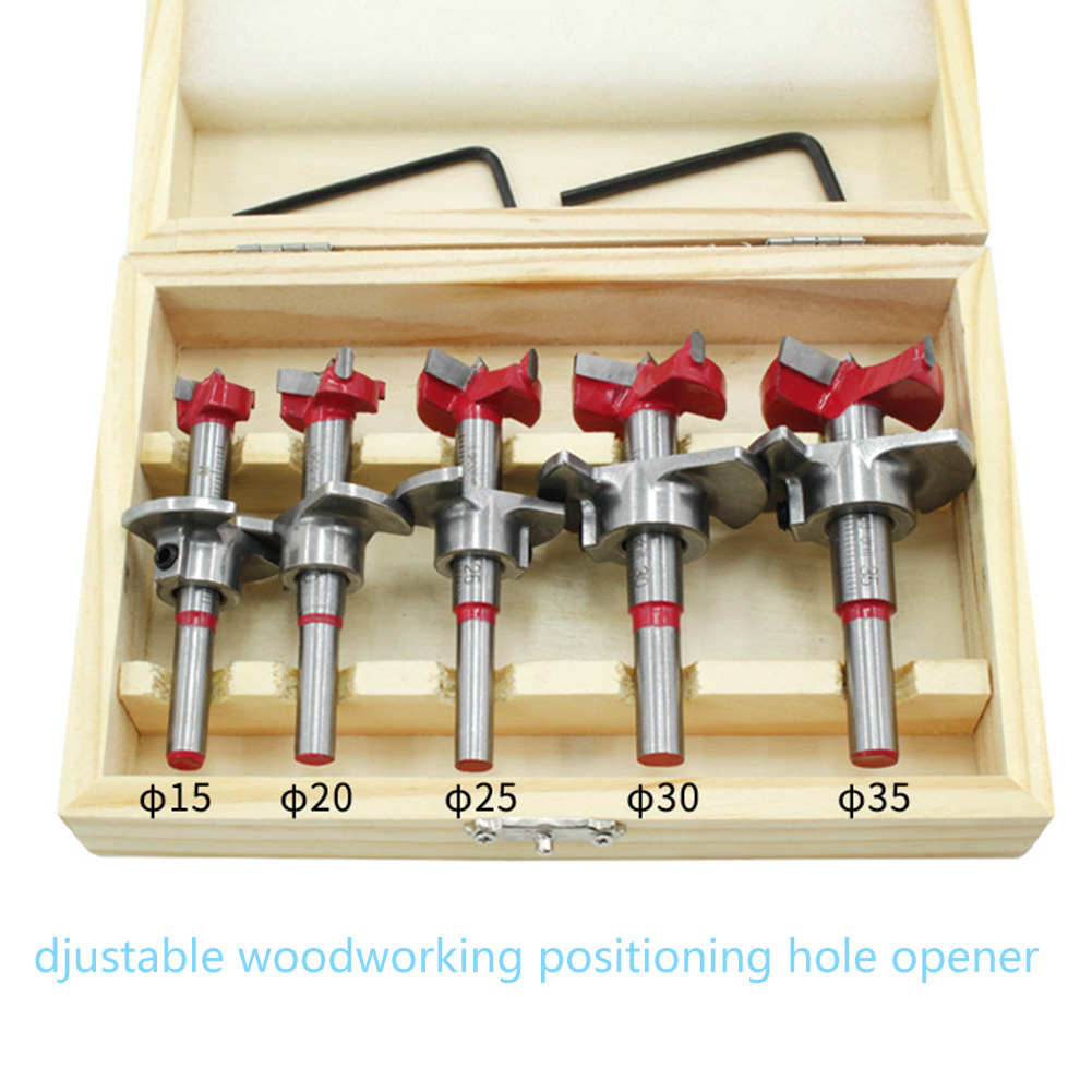 Woodworking Hole Saw Set Wood Cutter Auger Opener Drilling Tool Kits 15-35mm HVR88