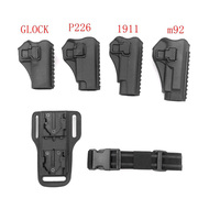 Tactical Glock Gun Holster Pistol Bag Adjustable Height Quick Pulling Device for Outdoor Hunting Accessories 1911 M92 P226 M92 G