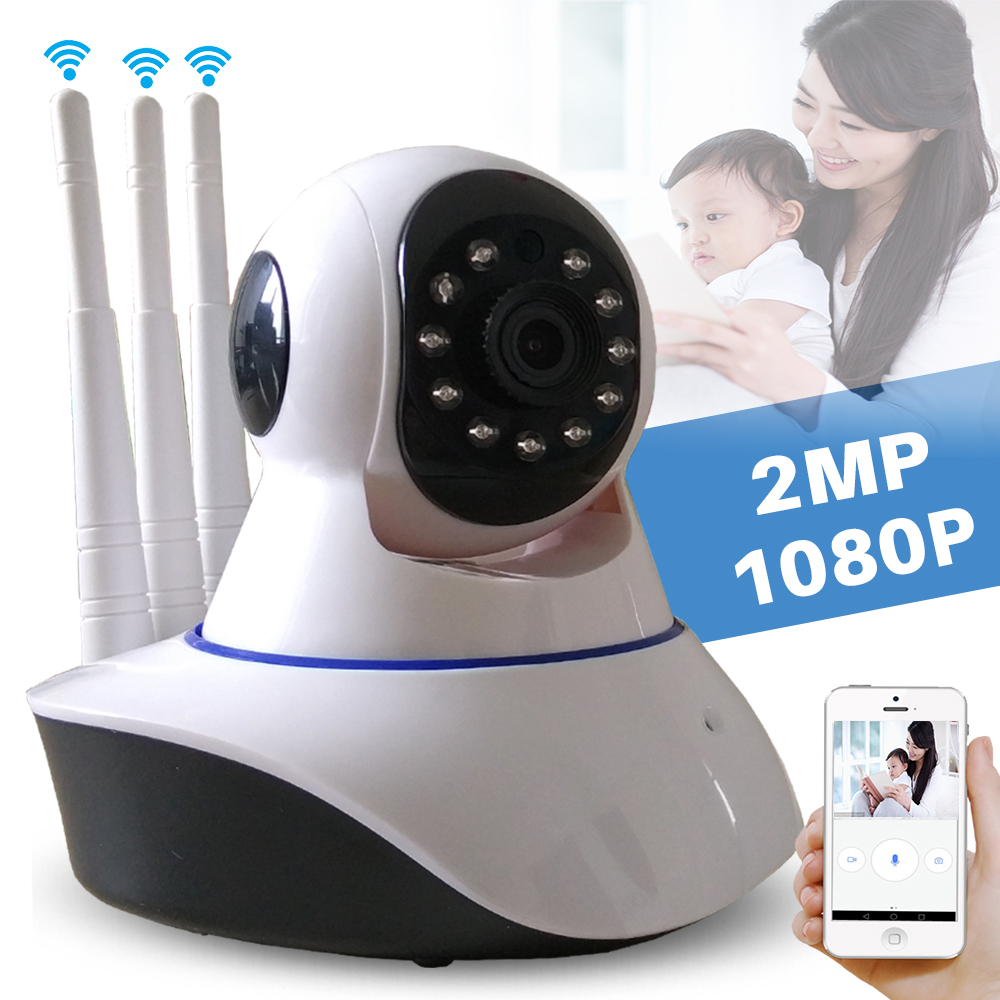 Tri Antenna Wireless Home CCTV Security Indoor 2MP HD 1080P Wifi P2P IP Camera Baby