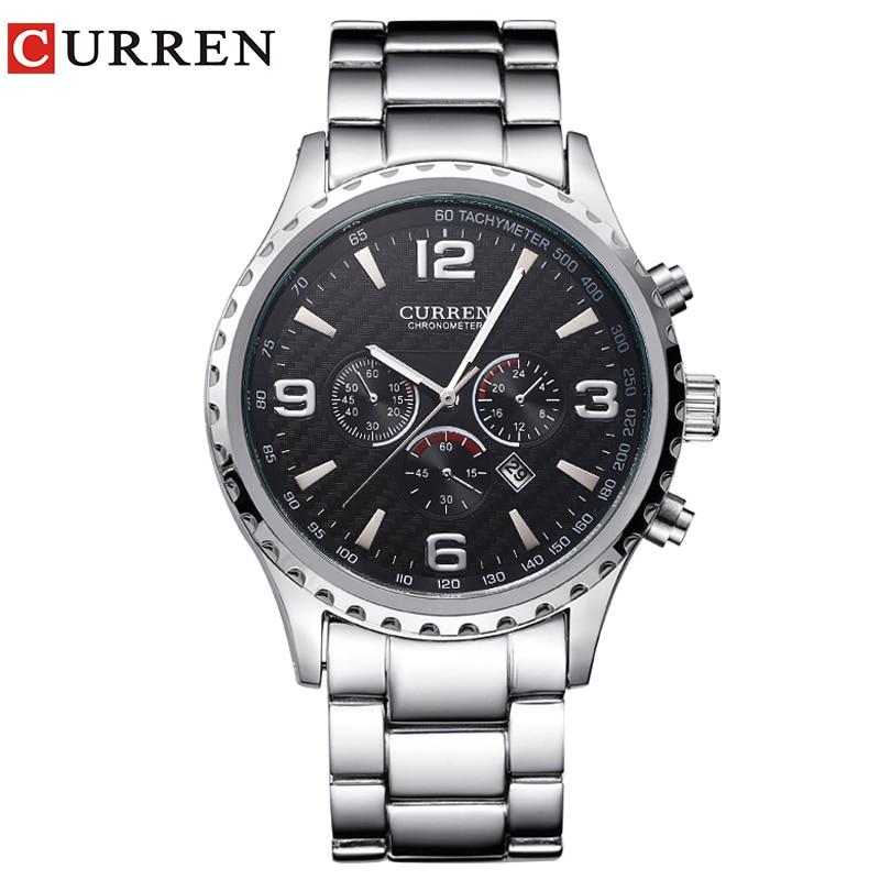 CURREN Brand Luxury Fashion Sports Men Watches Casual Military Quartz Wristwatch Full Steel Clock Relogio Masculino Montre Homme