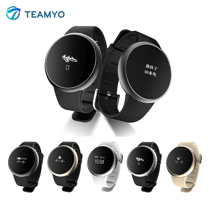 imágenes para A98 Teamyo reloj Inteligente de fitness Rastreador Heart Rate Monitor de Presión Arterial cardiaco actividad rastreador De pulsera Inteligente IP67