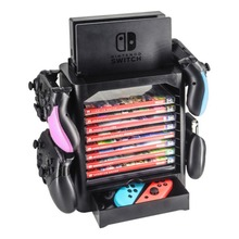 New Multifunctional Storage Bracket Display Shelf Disc Card Holder Stand for Nintendo Switch Host Switch Controllers Accessories
