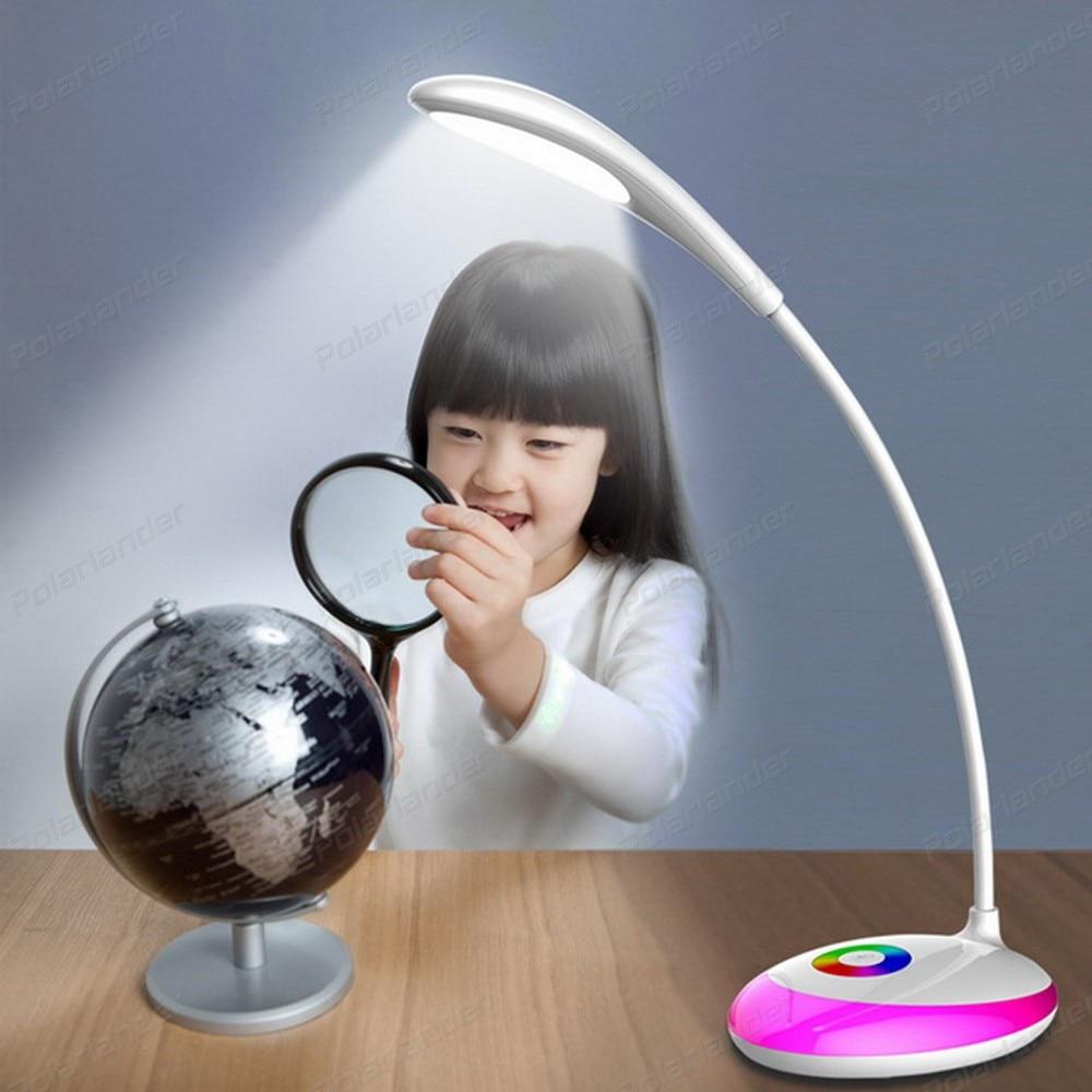 Online eye color changer - Color Change Led Desk Table Lamp Eye Protection Reading Lights For Children Bedroom Study Office