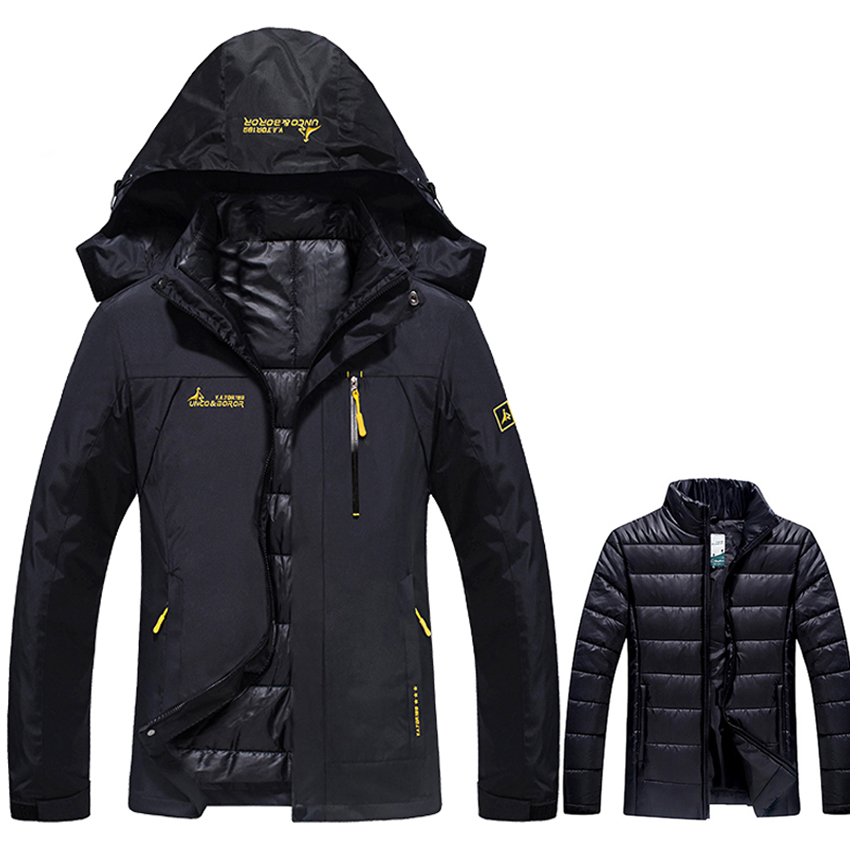 Winter 2 Pieces Womens Jackets Outdoor Sport Waterproof Cotton-padded Coats Warm Hiking Ski Camping Female Brand Jacket VB067Winter 2 Pieces Womens Jackets Outdoor Sport Waterproof Cotton-padded Coats Warm Hiking Ski Camping Female Brand Jacket VB067