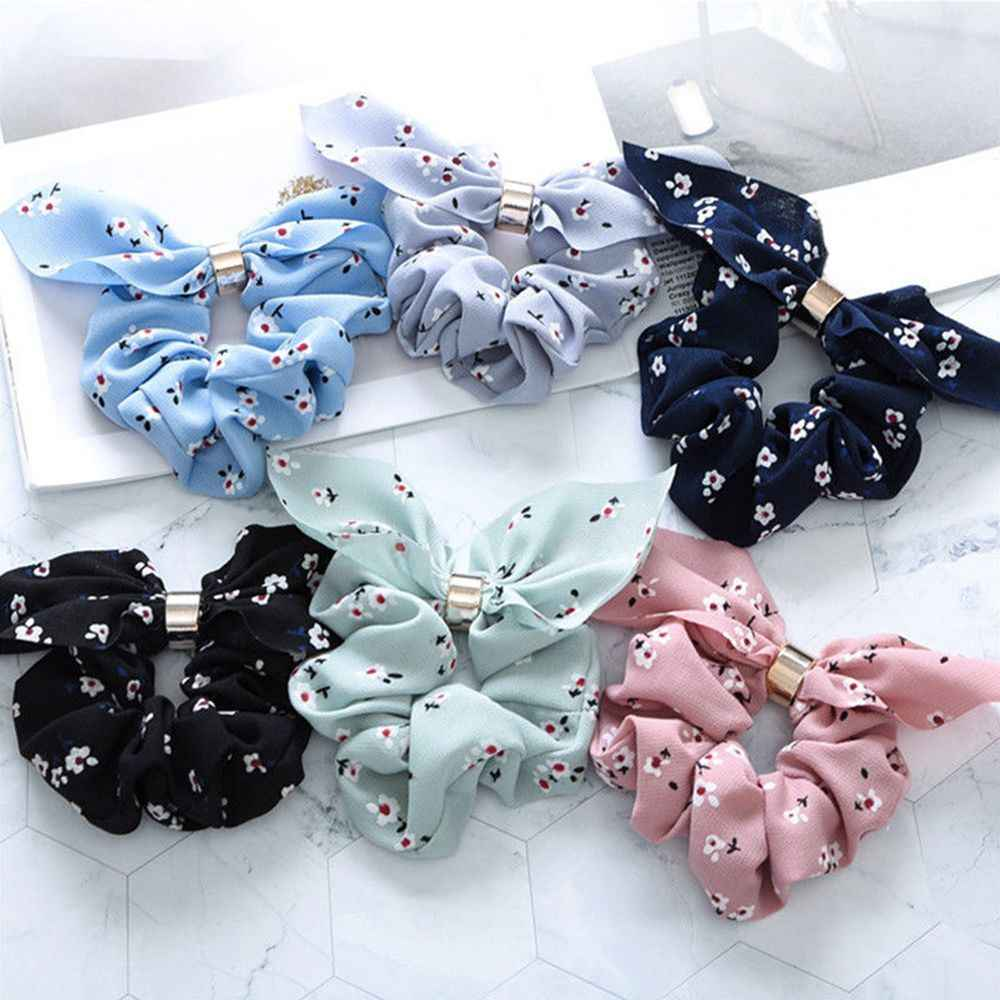Fashion Adjustable Bow Knot Scrunchies Hair Bands for Women Hair Ring Rope Ties Headband Ponytail Holder Hair Accessories