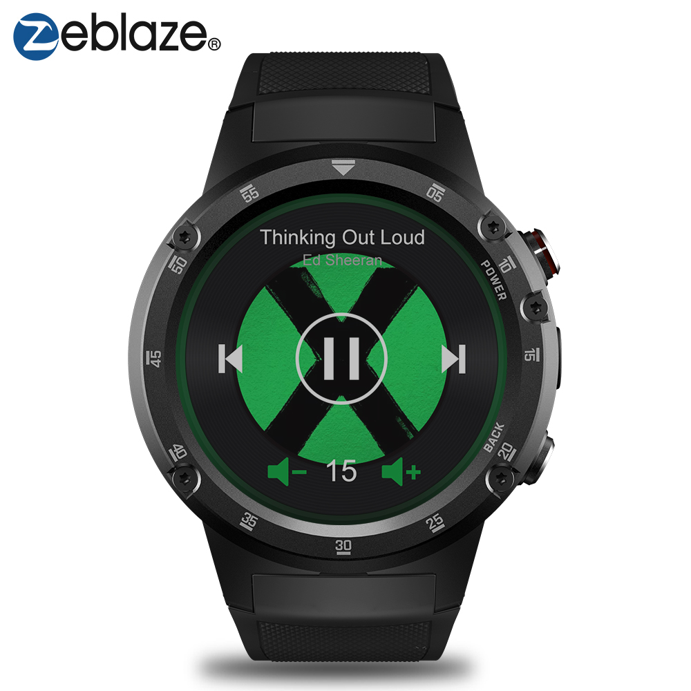 Zeblaze THOR 4 плюс 4 г спортивные SmartWatch gps/ГЛОНАСС часы 4 ядра 16 ГБ android часы Оффлайн музыка Smart Assistant gps часы