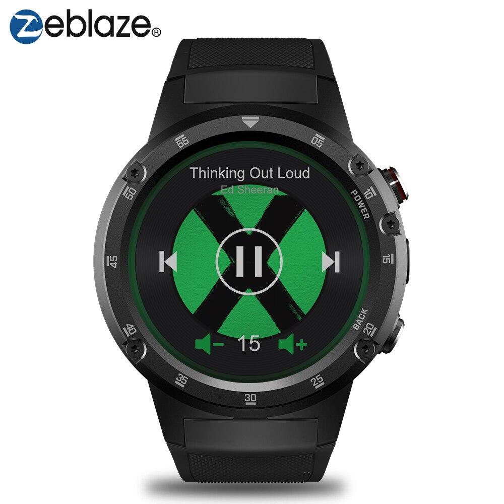 Zeblaze THOR 4 Plus 4g Sport SmartWatch GPS/GLONASS Orologi Quad Core 16 gb android della vigilanza In Linea di Musica smart Assistente GPS Della Vigilanza
