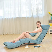 Adjustable Lazy Sofa Floor Chair With Feet Cushion Multi-Functional Sofa Sofa Bed Bedroom Furniture Game Room Living Room Z30(China)