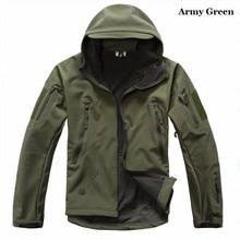 цена на TAD V 4.0 Men Lurker Shark skin Soft Shell  Camping Waterproof Windproof Jacket Tactical Sports Army Clothing Tan