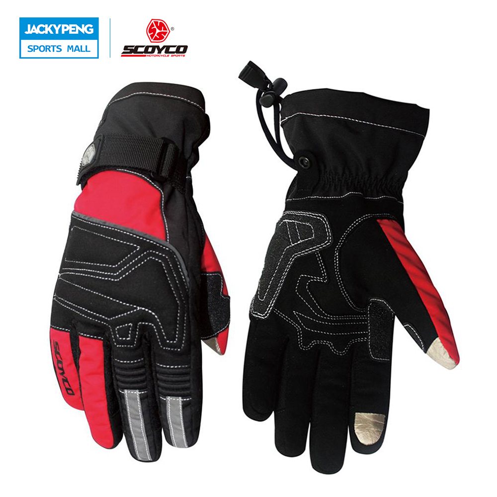 SCOYCO Motorcycle Riding Touch Screen Gloves Winter Ski Snowboard Snowmobile Racing Gloves Waterproof Windproof Warm uantes