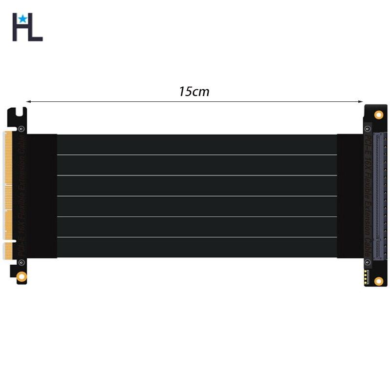 PCI-express 3,0 16x a pcie x16 riser cable de extensión tarjetas gráficas 16x ranura PCI-e cable conector de cable estable PC host 15 cm
