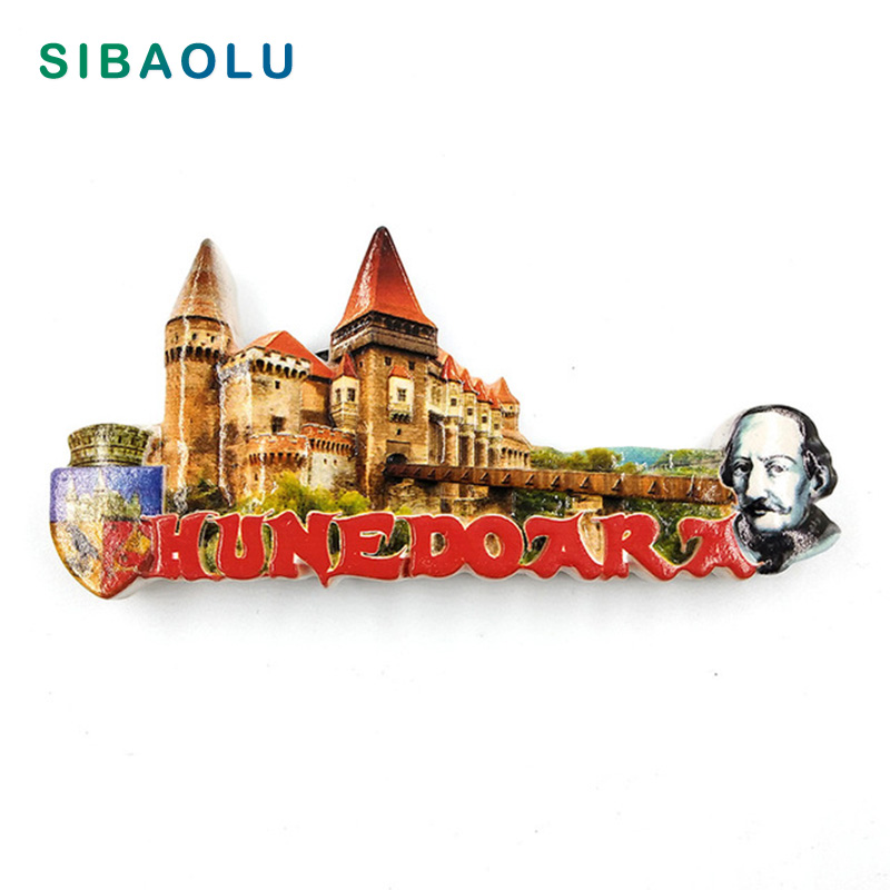Romania Travel Souvenir Scenery Castle Building 3D High-end Resin Fridge Magnets Refrigerator Magnetic Sticker Home Decoration image